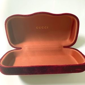 Gucci Sunglasses Case - Burgundy